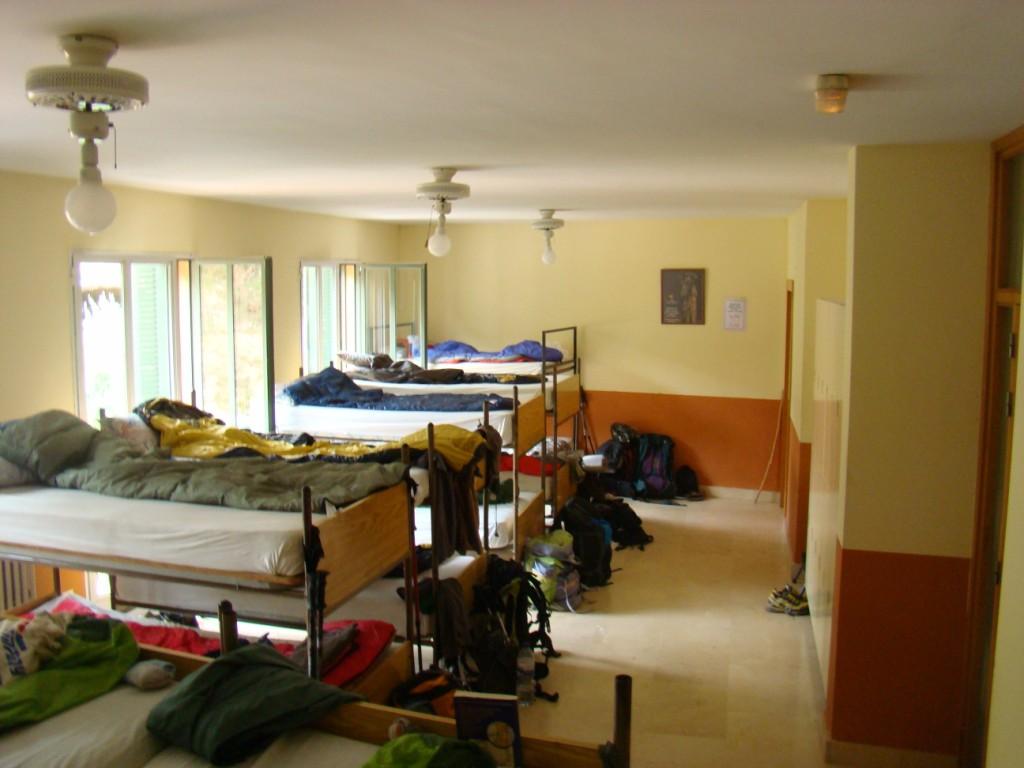 sypialnia schroniska w Estella