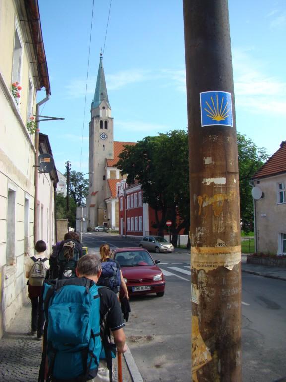 przed kościołem św.Jakuba