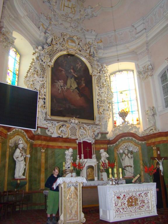 św.Jakub nad ołtarzem