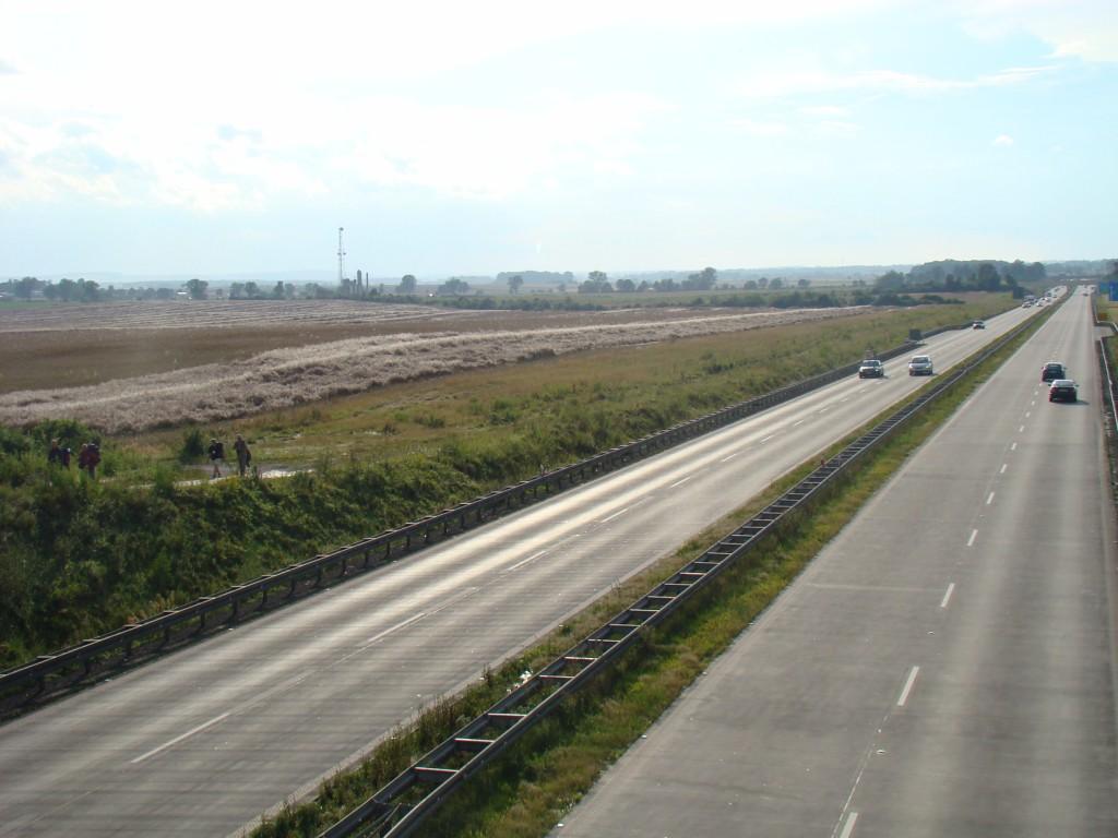 przejście nad 'autostradą' A4