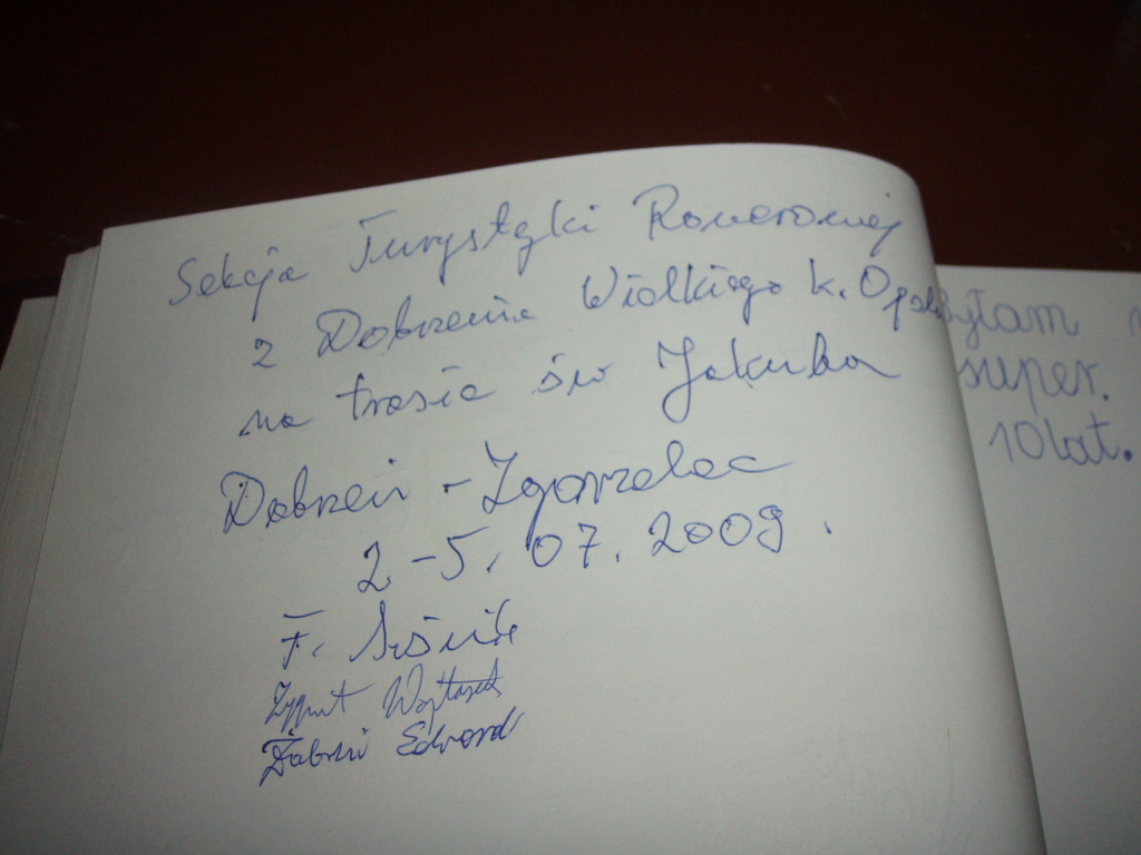 wpis znaleziony w księdze gości w Muzeum Średzkim