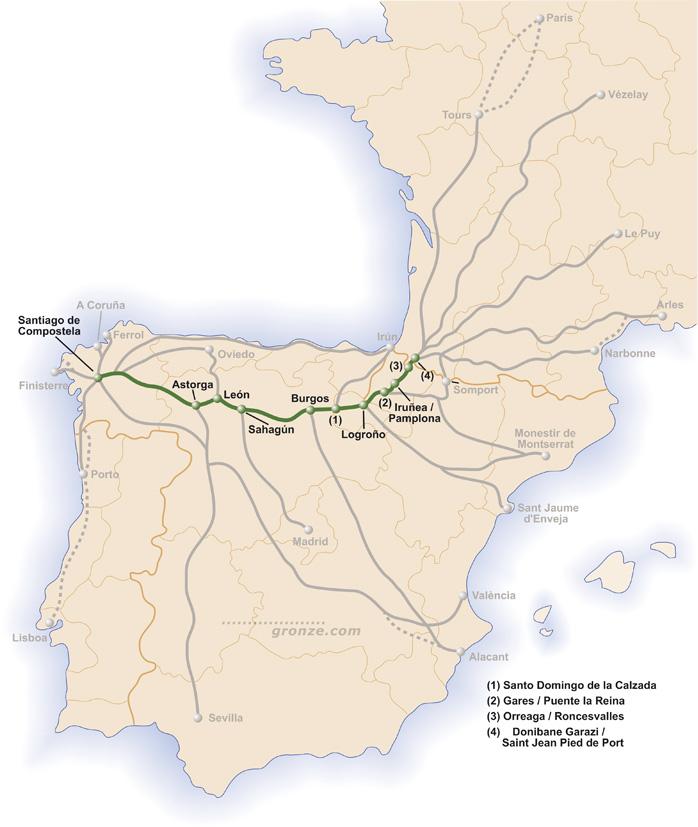 Camino Francees (dzięki uprzejmości www.gronze.com)