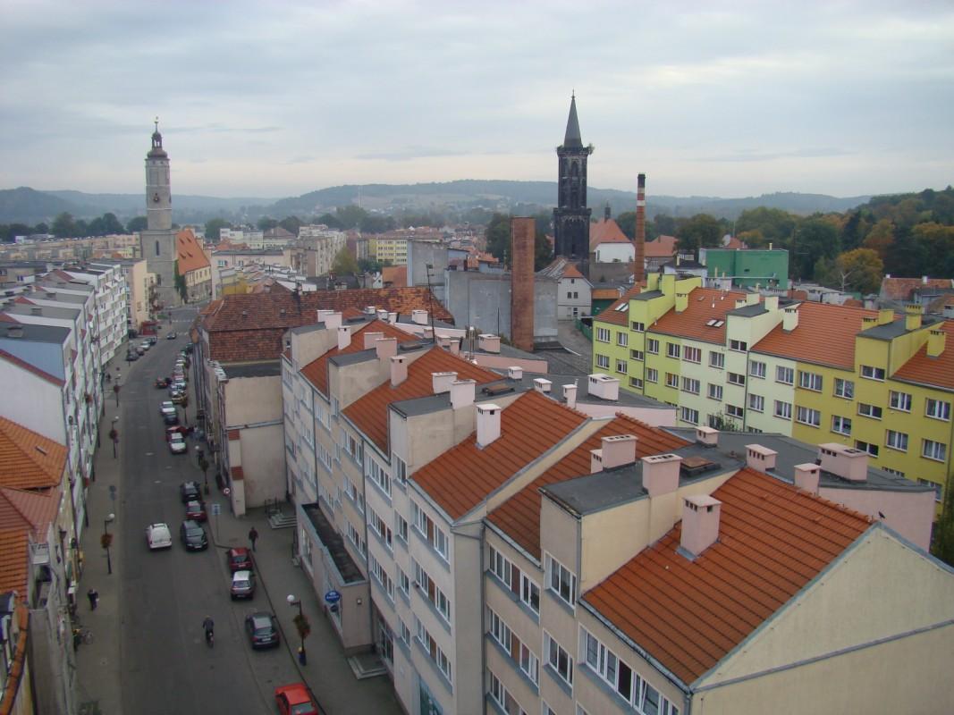 widok z wieży bramy lubańskiej