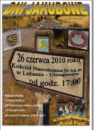 Plakat Dni Jakubowe Lubań 260610