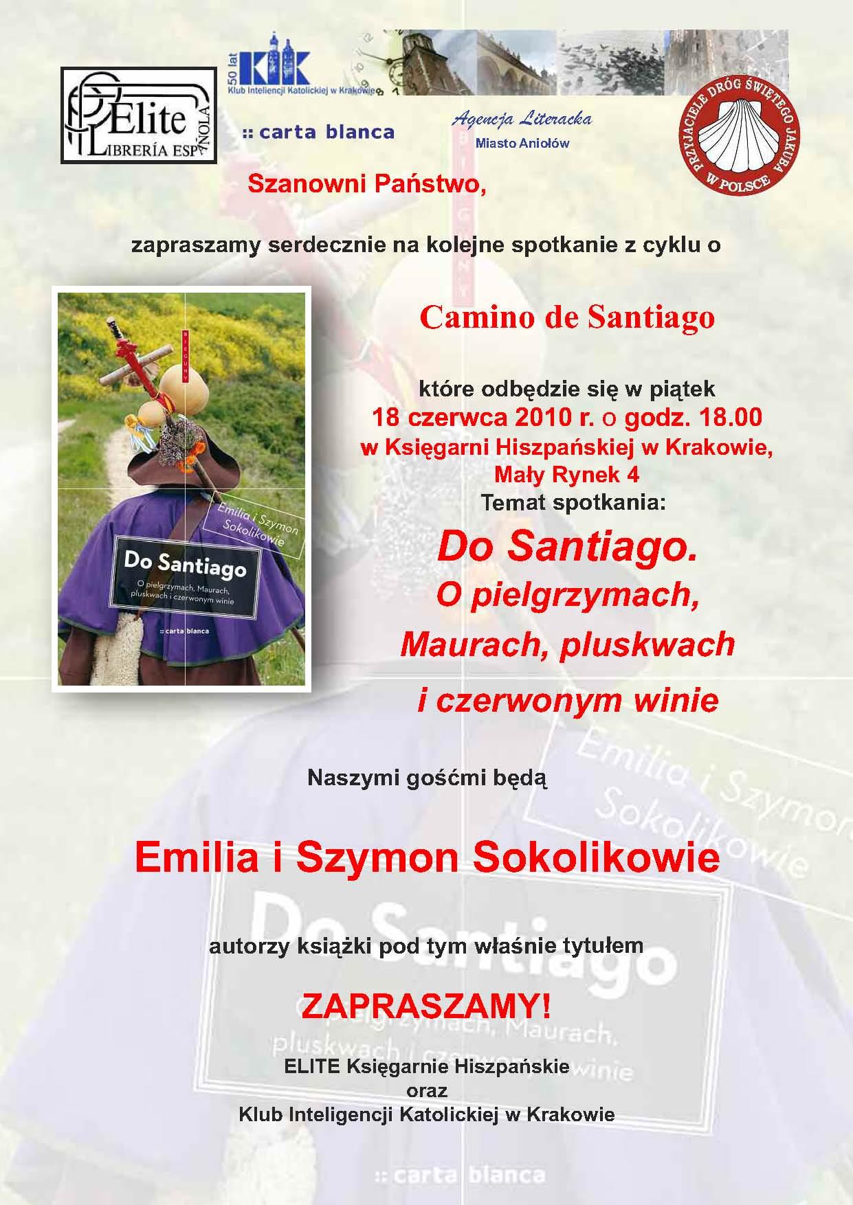 Plakat Emilia i Szymon Sokolikowie 'Do Santiago'