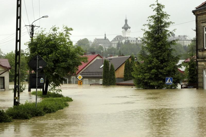 Tuchów szlak Jakuba- powódź