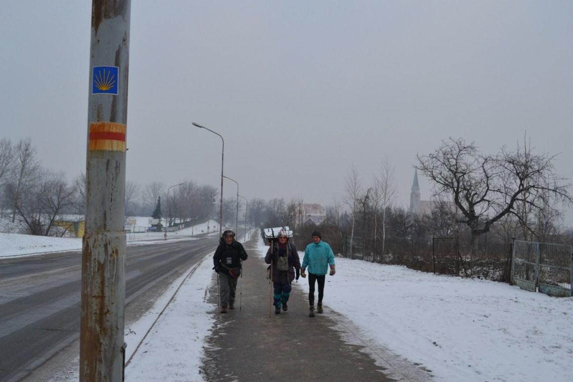 Camino w Sobótce pod prąd
