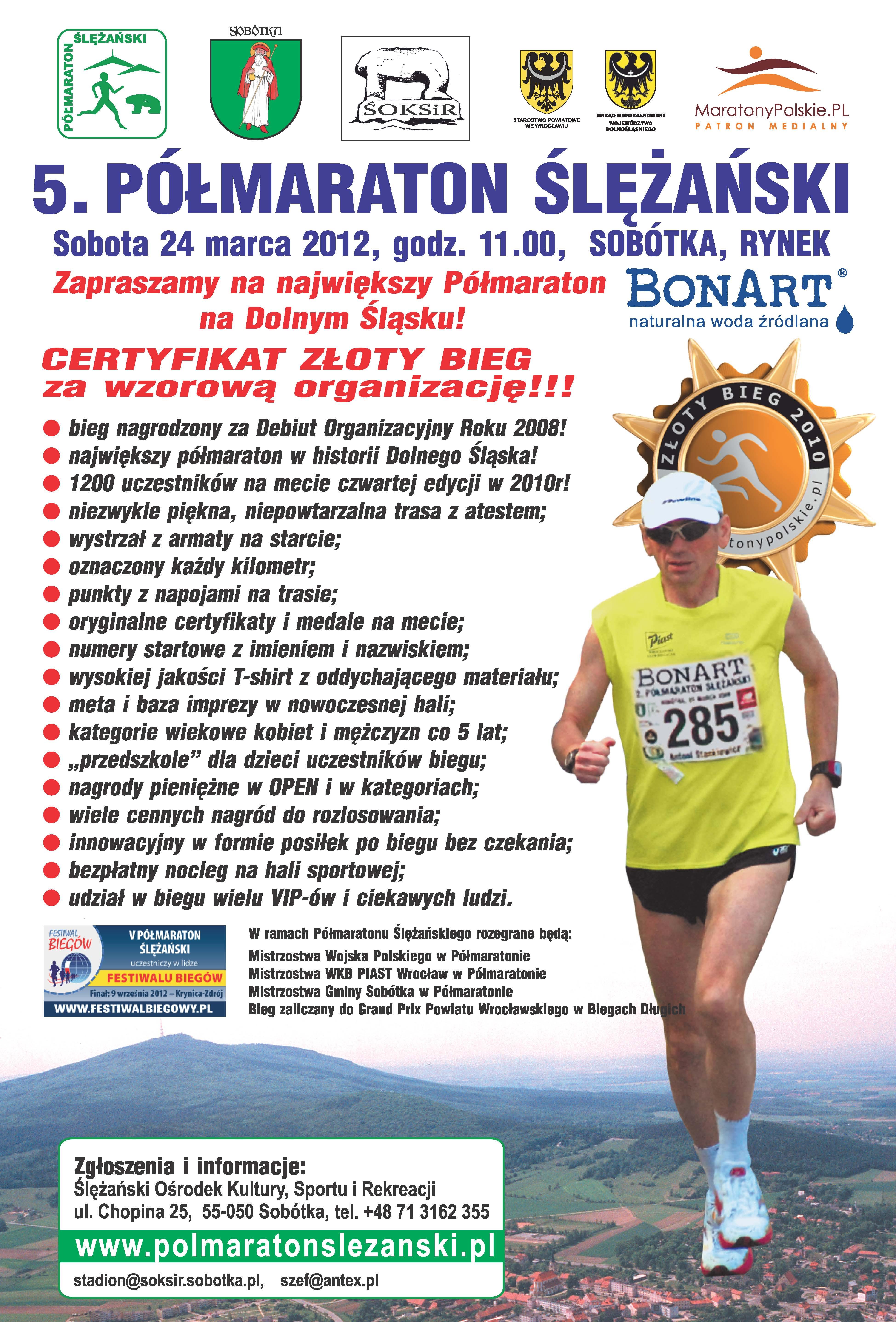 półmaraton ślężańki- plakat